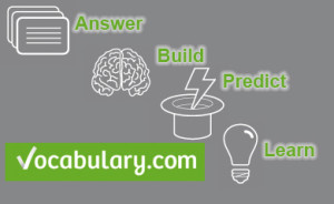 Vocabulary.com graphic. Answer, Build, Predict, Learn