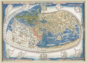 [The World] by Ptolemy. Published by Leinhart Holle, 1482. Map reproduction courtesy of the Norman B. Leventhal Map Center at the Boston Public Library.
