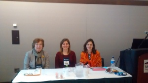 Panelists L to R: Claire Machosky, Eastern Suffolk BOCES; Sophia Sineath, Georgia Historical Society; Jill Beccaris-Pescatore, Montgomery County Community College.