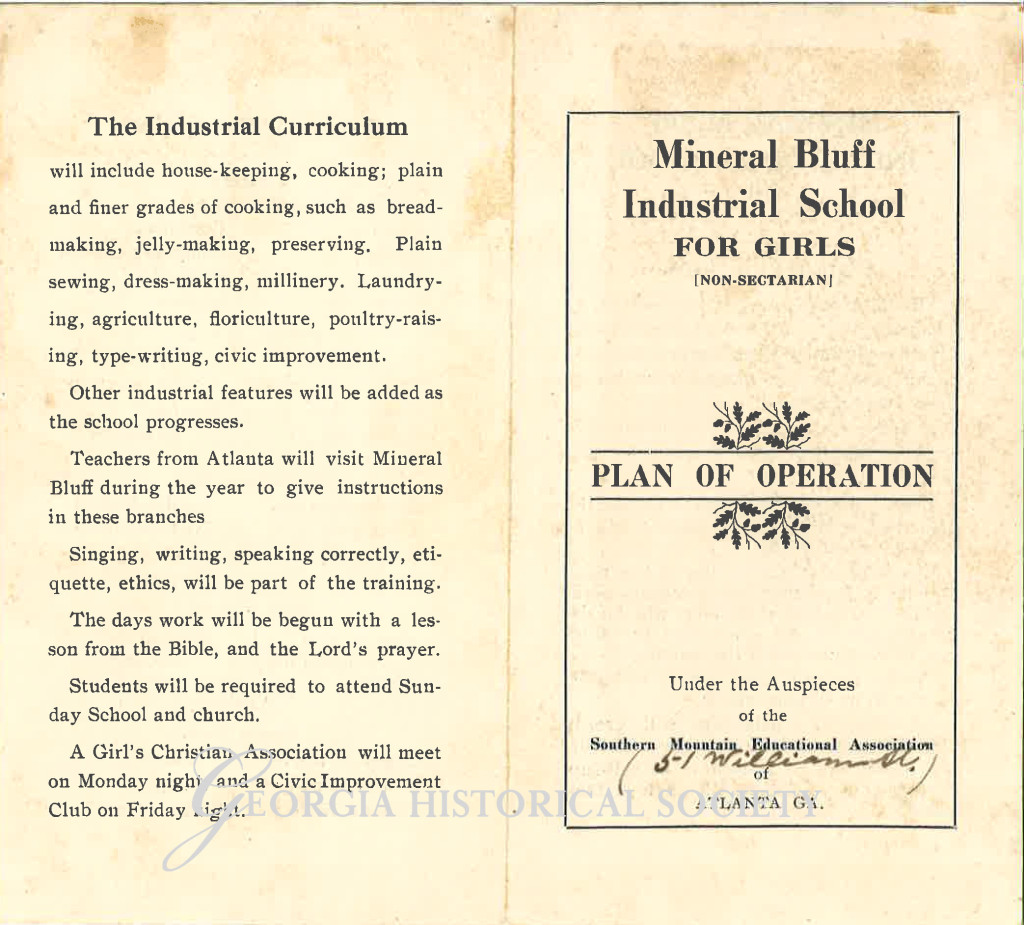 Mineral Bluff Industrial School For Girls Pamphlet-1