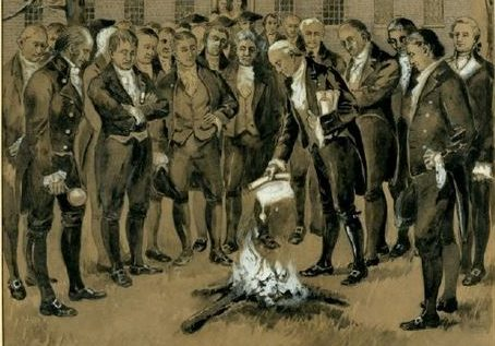 C.H. Warren Illustration of the Burning of the Yazoo Act, MS 1675.