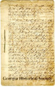 """""""An Act for an amicable settlement of limits with the State of Georgia, and authorizing the establishment of a Government in the Mississippi territory"""", 1798 March 5"""